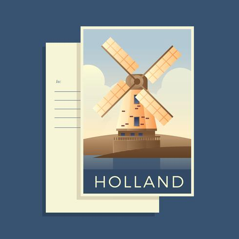 Postcards Of The World Holand Vector