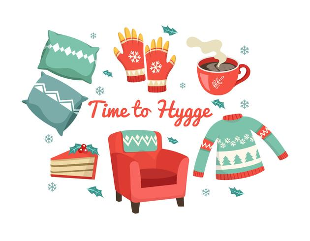 Time To Hygge Vector Elements