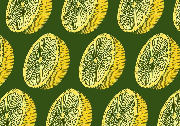 motif de citron rétro