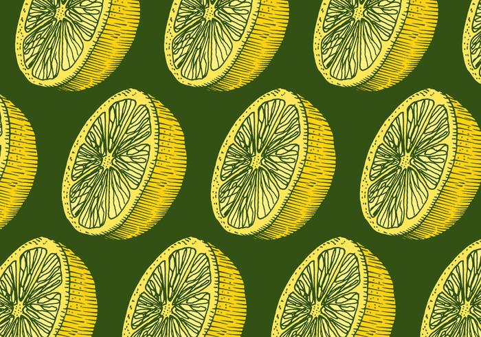 retro lemon pattern