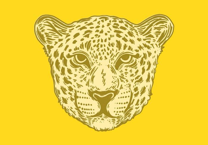portrait of a spotted jaguar vector