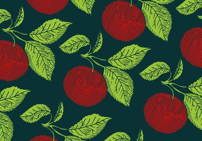 motif de pomme rétro