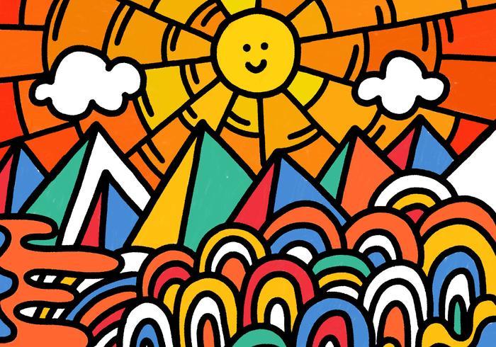 fun colorful landscape