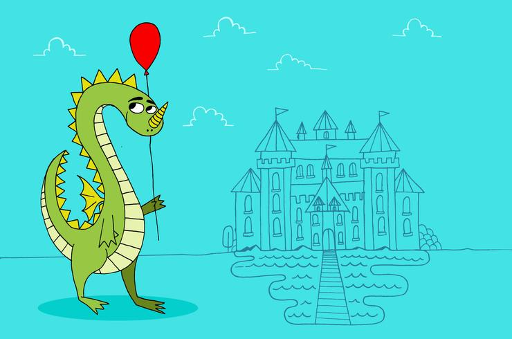 Dragon balloon castle