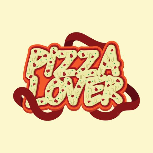 Pizza Lover Typographie Design