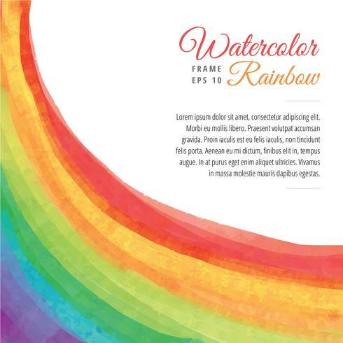 Aquarell Regenbogen Rahmen Vektor