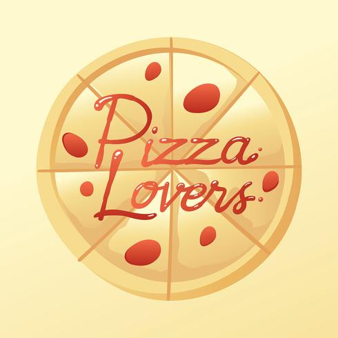 Pizza Lovers Typography Sauce Vector
