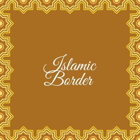 Flat Islamic Border Vector Background