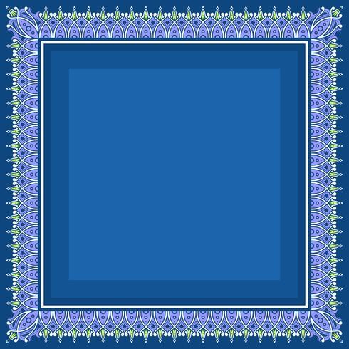 Frontière islamique avec le vecteur de fond bleu