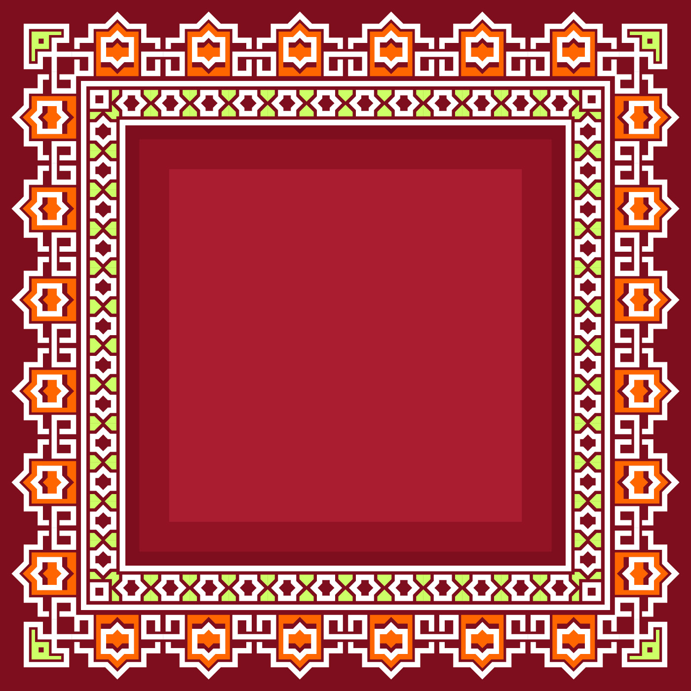 Islamic Border With Red Background Vector Download Free