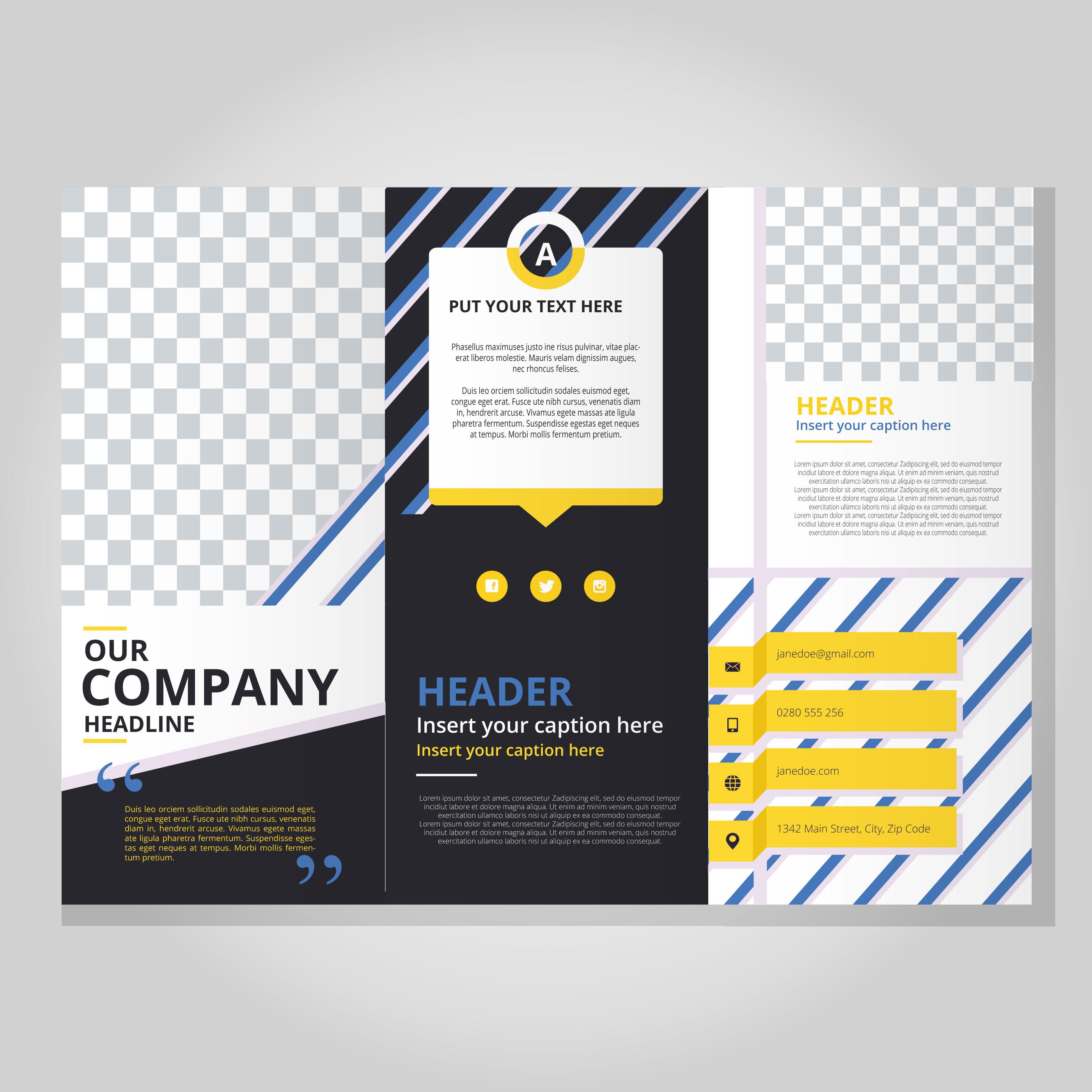 Plantilla de folleto moderno tríptico - Descargue Gráficos y ...