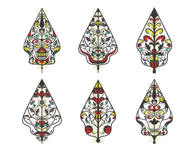 Collection de Gunungan Wayang Vector