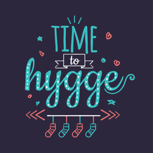 Time to Hygge vector