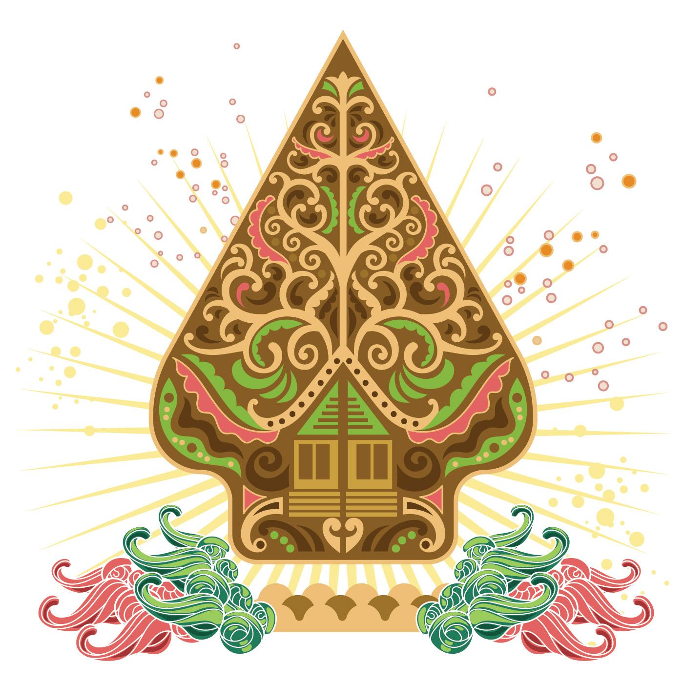 Flat Vector Pattern Of Wayang Gunungan Download Free Vector Art Stock Graphics Images
