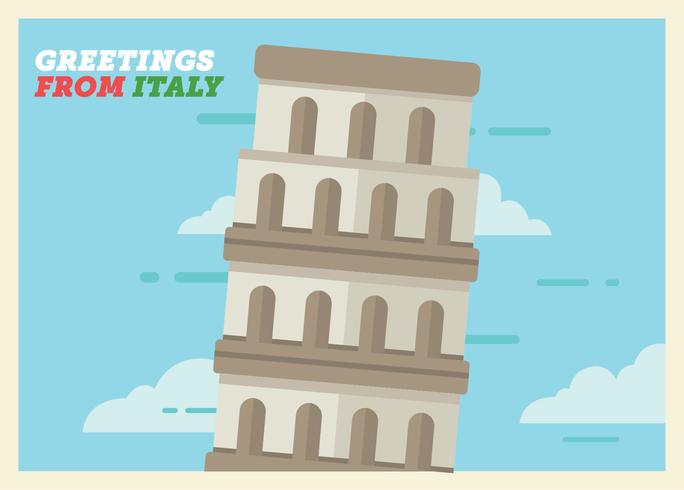 Italy Postcard Vector