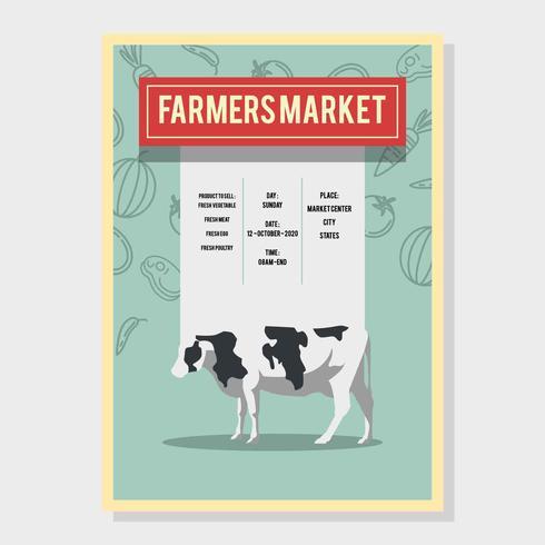 Farmer Market Flyer Vector