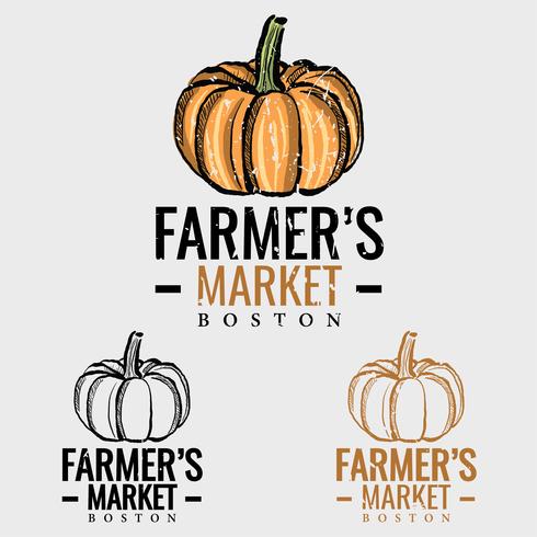 Pumpkin Farmers Market-logo vector