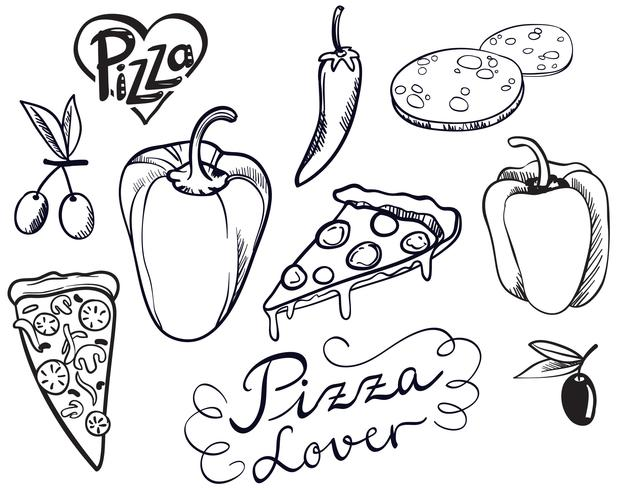 Vecteurs Vintage Pizza Lovers