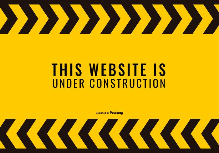 Site Web sous l'illustration de la construction