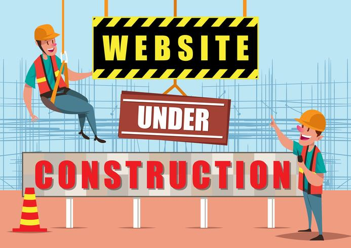 Website Under Construction Illustration