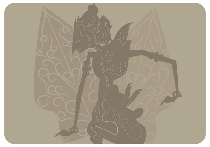 Prabu Ramawijaya con Gunungan Vector