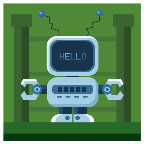 Robot Character Design vector