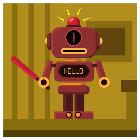 design de personagem robô