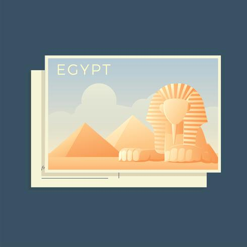 Postcards Of The World Egypt Vector
