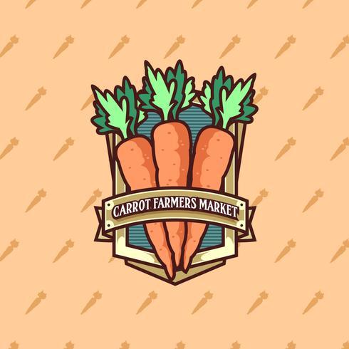 Zanahoria Farmers Market Logo Vector