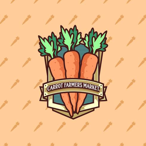 Karotten-Bauernmarkt Logo Vector