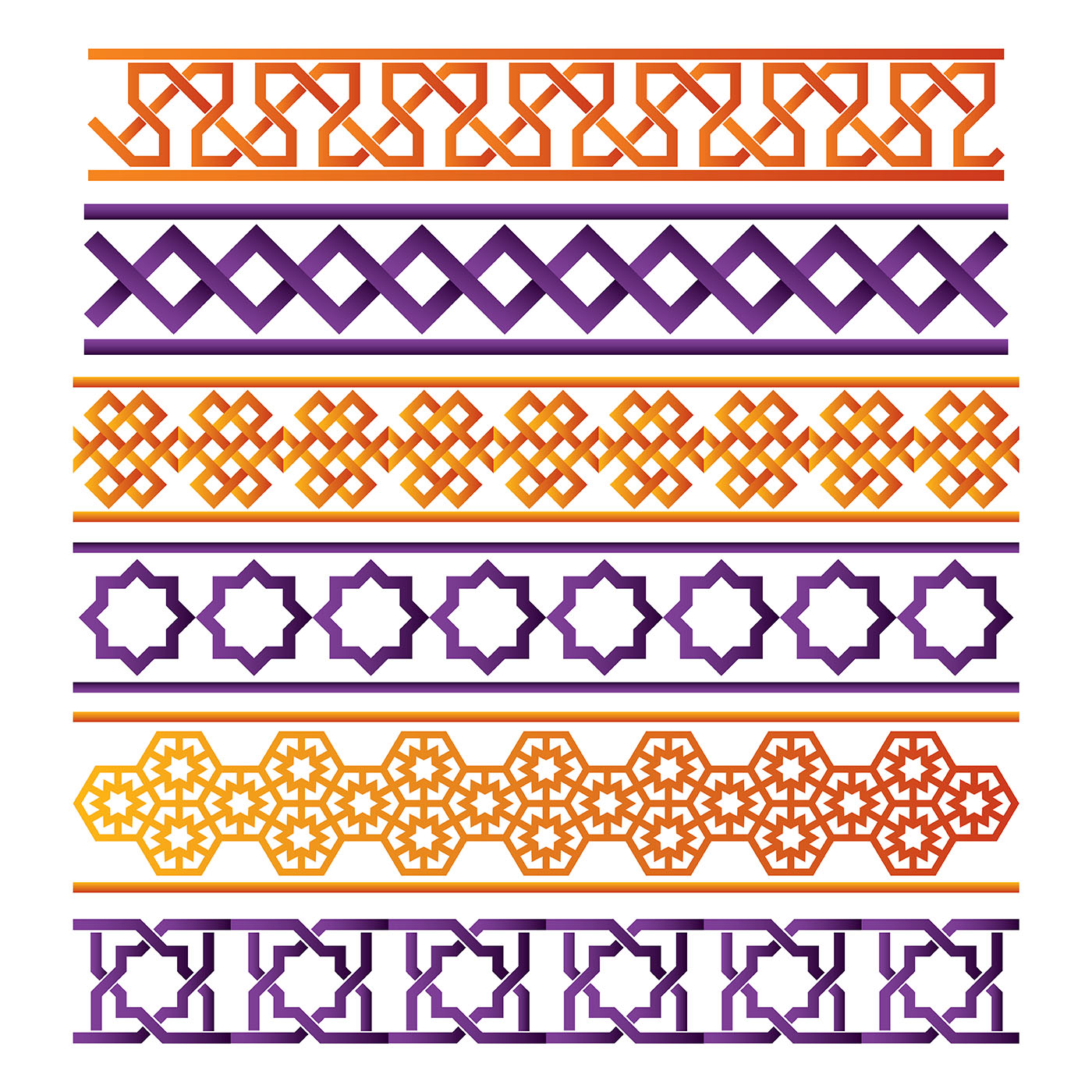 Islamic Border Vector Set - Download Free Vector Art ... Islamic Art Design Border