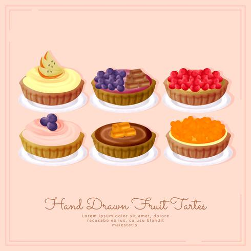 Tartes de fruits Vector