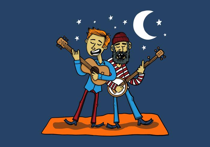 dos músicos bluegrass