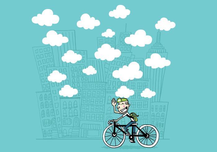 Typ auf dem Fahrrad