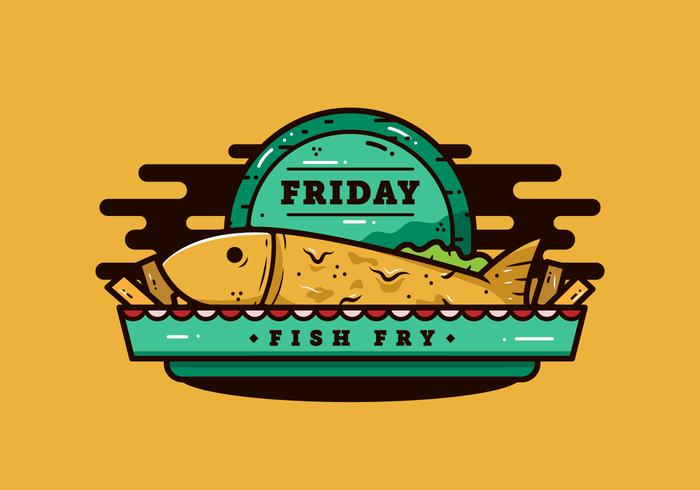 Venerdì Pesce fritto vettore