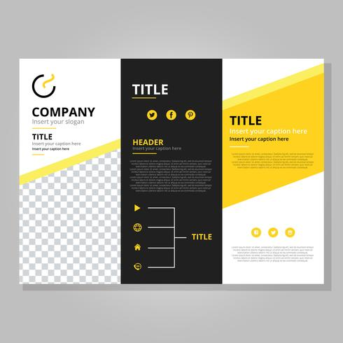 modern tri fold brochure template download free vector art stock