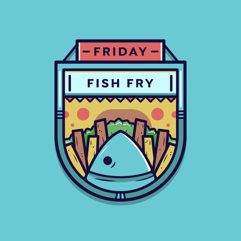 Friday Fish Fry Vector badge