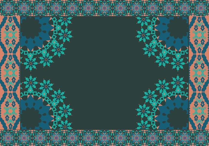 Islamic Border Dark Background Vector