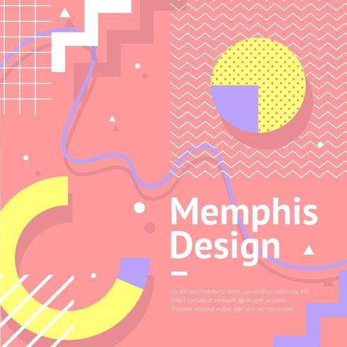 Memphis-Hintergrund-Pfirsich-Vektor