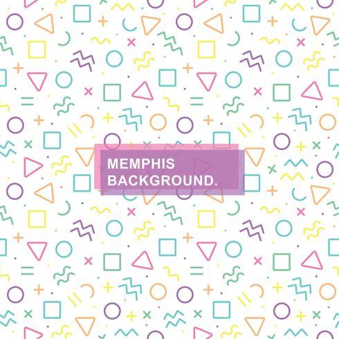 Seamless Memphis Background