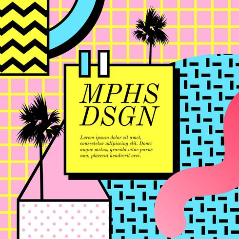 Memphis ontwerp vector