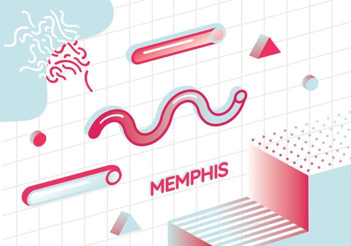 Diseño vectorial de Memphis