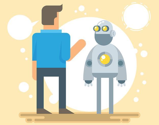 Ilustración de robot ai vector