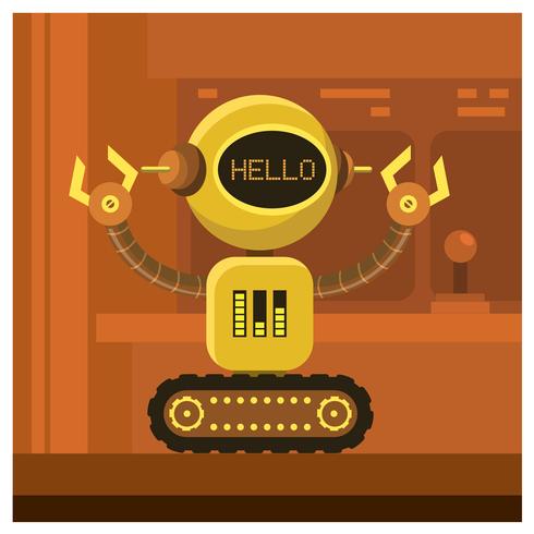 conception de personnage de robot