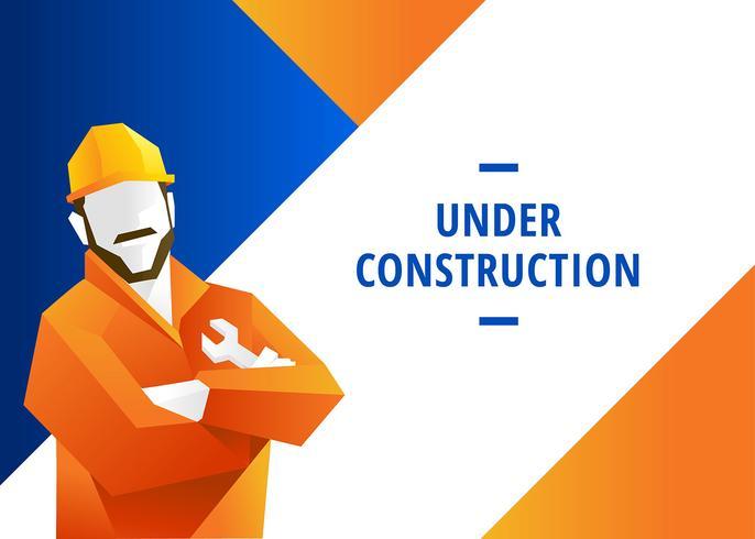 Website em construção Vector