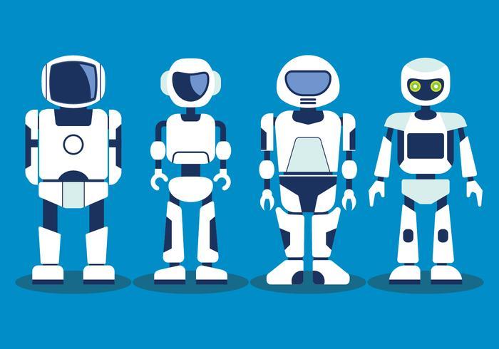 AI-Roboter-Vektor-Set