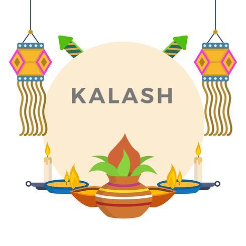 Flat Kalash Vector Illustration