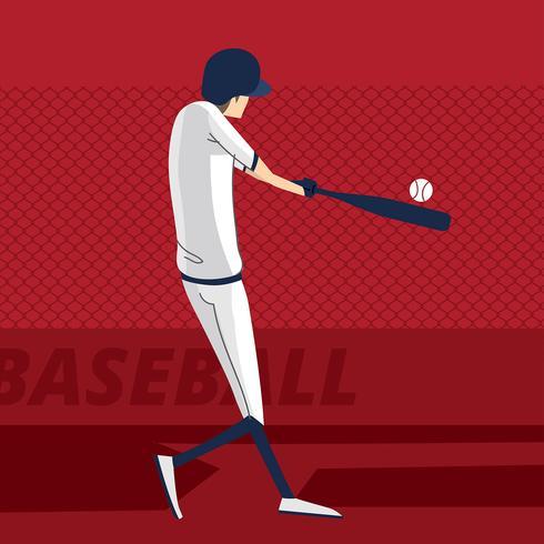 Abstract Baseball Player Vector