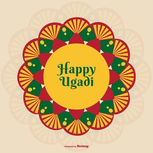 Ilustración colorida feliz de Ugadi