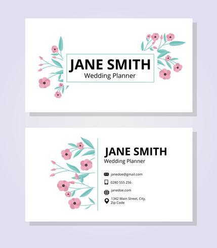 Plantilla de tarjeta de visita feminina